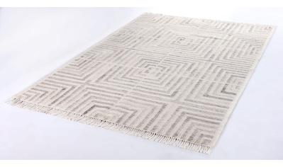 TOM TAILOR Teppich »Square Kelim«, rechteckig, 5 mm Höhe, Boho-Style, handgewebt, mit... kaufen