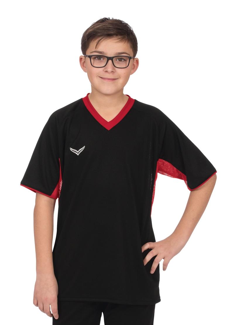 Trigema Raglan-Sportshirt schwarz Kinder Sport Shirts Sportmode Jungenkleidung T-Shirts