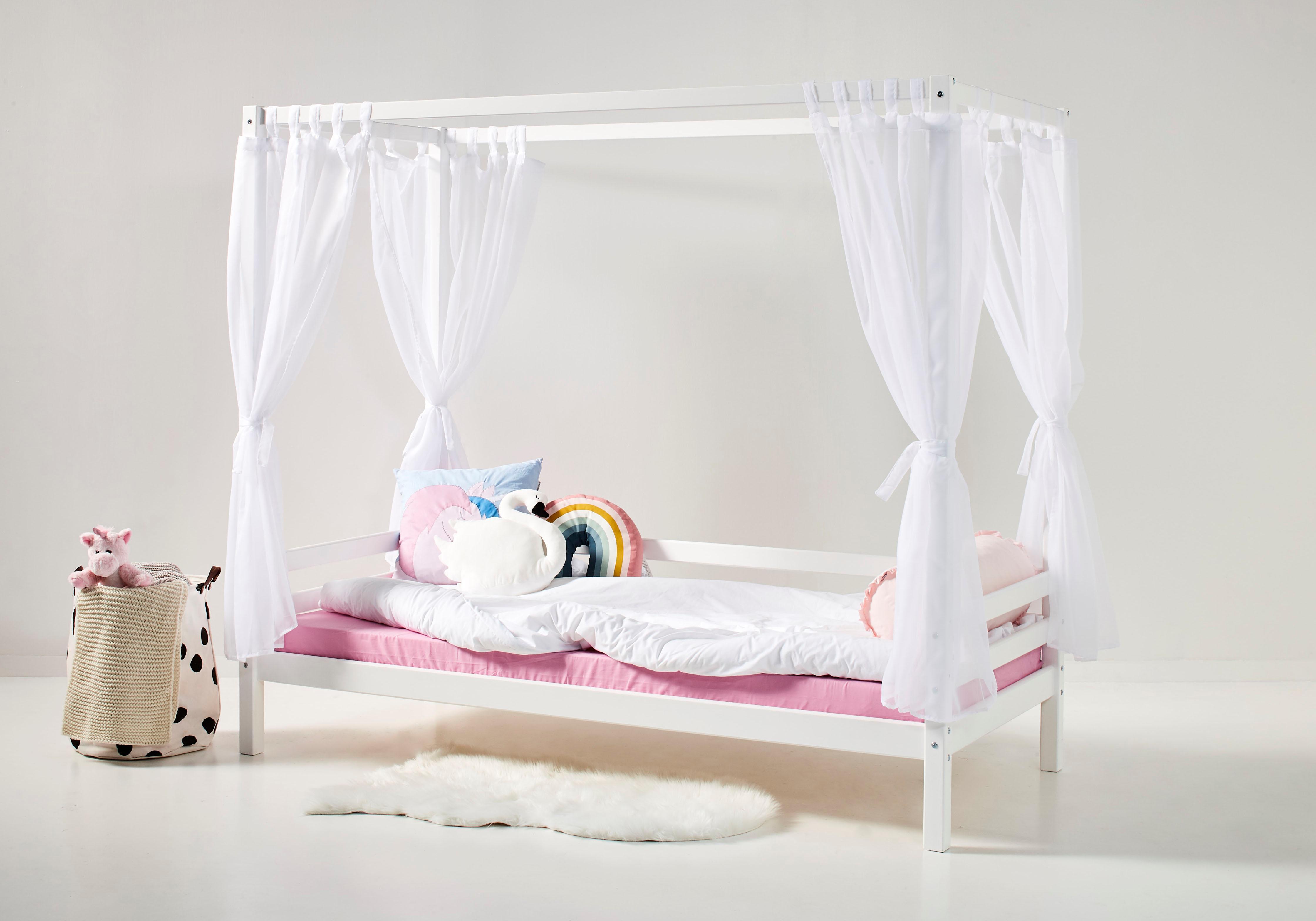 Hoppekids Betthimmel, inkl. 4 Vorhängen für Sofabett weiß Kinder Betthimmel Kinderbetten Kindermöbel
