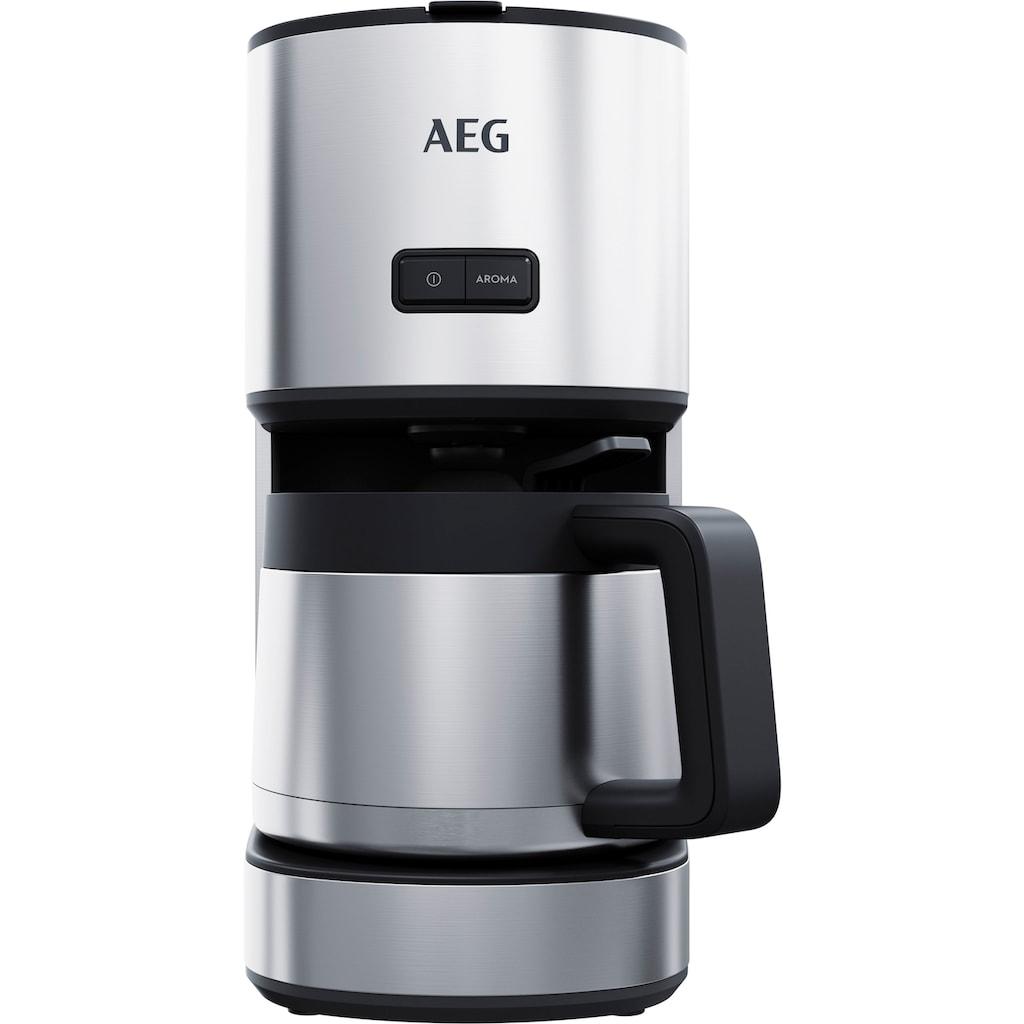 AEG Filterkaffeemaschine »CM4-1-6ST Gourmet 6«, Permanentfilter, 1x4