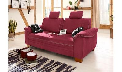 Home affaire 3-Sitzer »Husum«, mit Sitztiefenverstellung, Kontrastnaht und Federkern kaufen