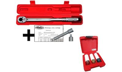 FAMEX Spar - Set: Drehmomentschlüssel 30 - 210 Nm, mit Spezial - Radmutterneinsätzen kaufen