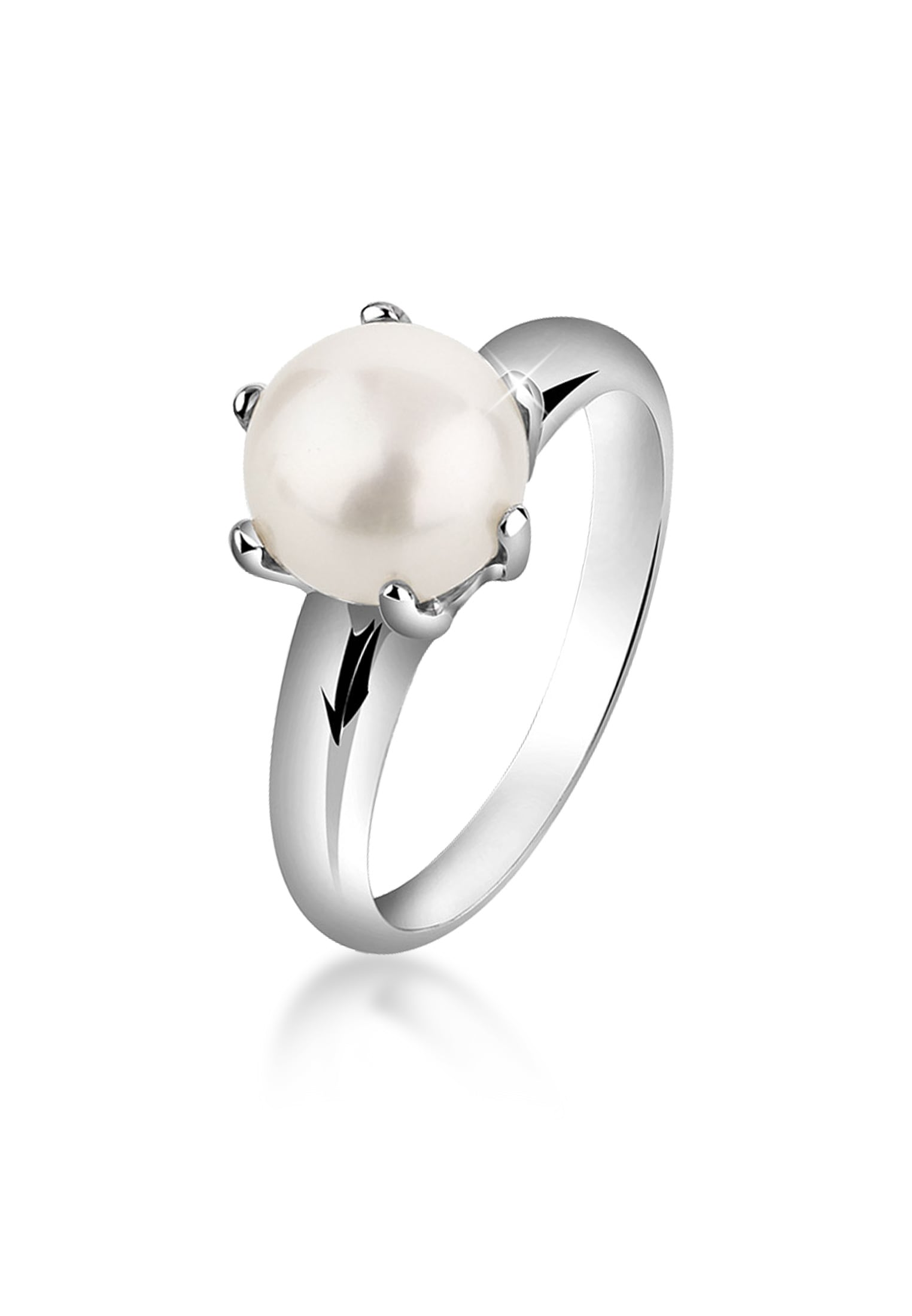 Nenalina Perlenring Perlenring Süßwasserzuchtperle Klassik 925 Silber | Schmuck > Ringe > Perlenringe | Nenalina