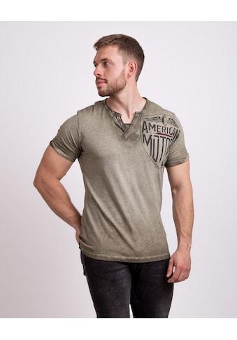 Key Largo T-Shirt, mit Brust- und Backprint kaufen