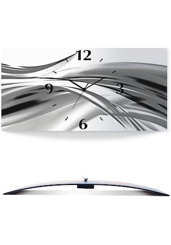 Artland Wanduhr »Schöne Welle - Abstrakt«, 3D Optik gebogen, silber-metallic, lautlos,... kaufen