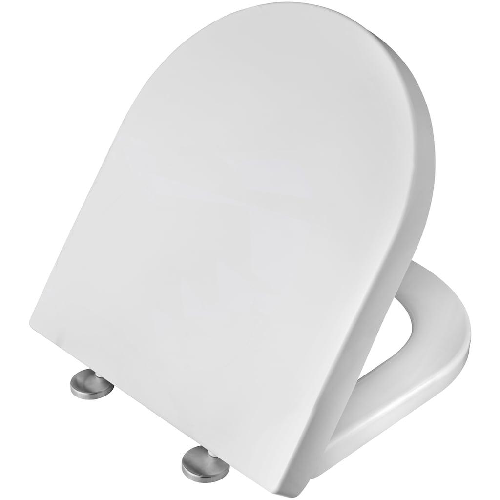 welltime Tiefspül-WC »Trento«, Wand-WC spülrandlos, inkl. WC-Sitz mit Absenkautomatik / Softclose, weiß