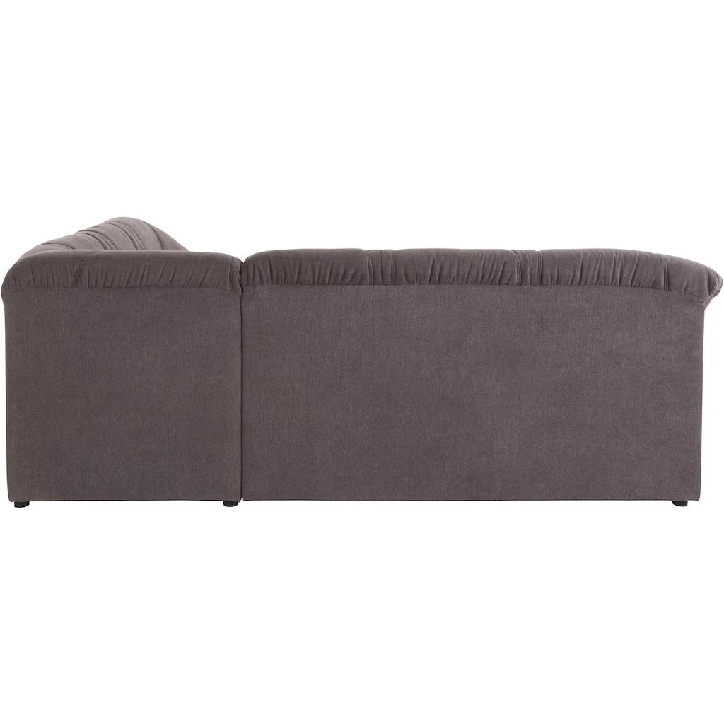 DOMO collection Ecksofa »Sarafina«, wahlweise mit Bettfunktion, optional mit Federkern