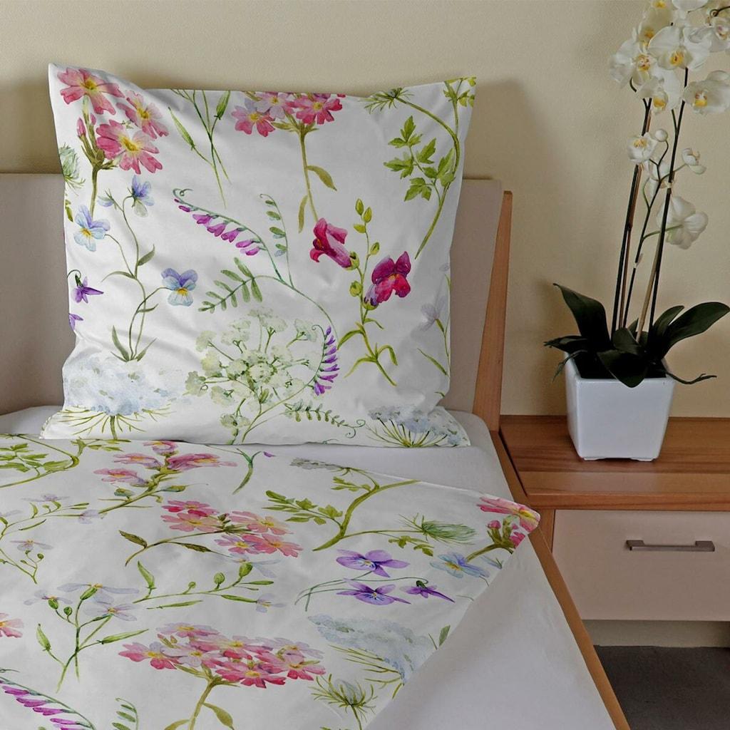 TRAUMSCHLAF Bettwäsche »Florenz«, florales Design mit seidigem Glanz