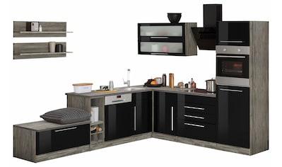 HELD MÖBEL Winkelküche »Samos«, mit E - Geräten, Stellbreite 300 x 250 cm kaufen