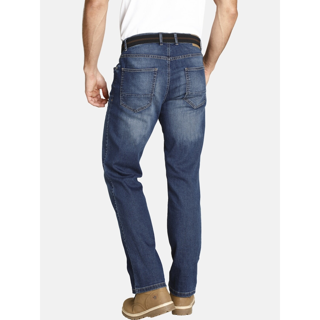 Jan Vanderstorm 5-Pocket-Jeans »JOEL«, Unterbauch-Jeans mit Gürtel