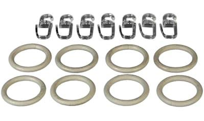 Liedeco Gardinenring, (Set, 8 St., mit Faltenlegehaken), für Gardinenstangen Ø 16 mm kaufen