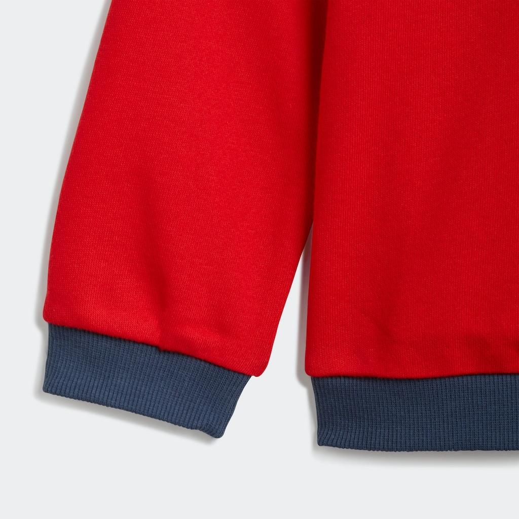 adidas Performance Trainingsanzug »ADIDAS ESSENTIALS SWEATSHIRT SET«, (Set, 2 tlg.)