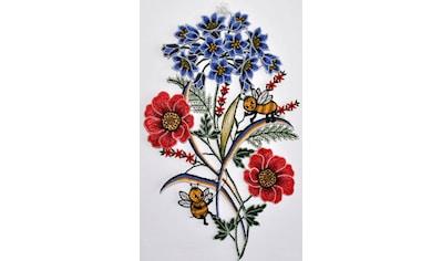 Stickereien Plauen Fensterbild »Fensterbild Blumen«, Echte Plauener Spitze kaufen