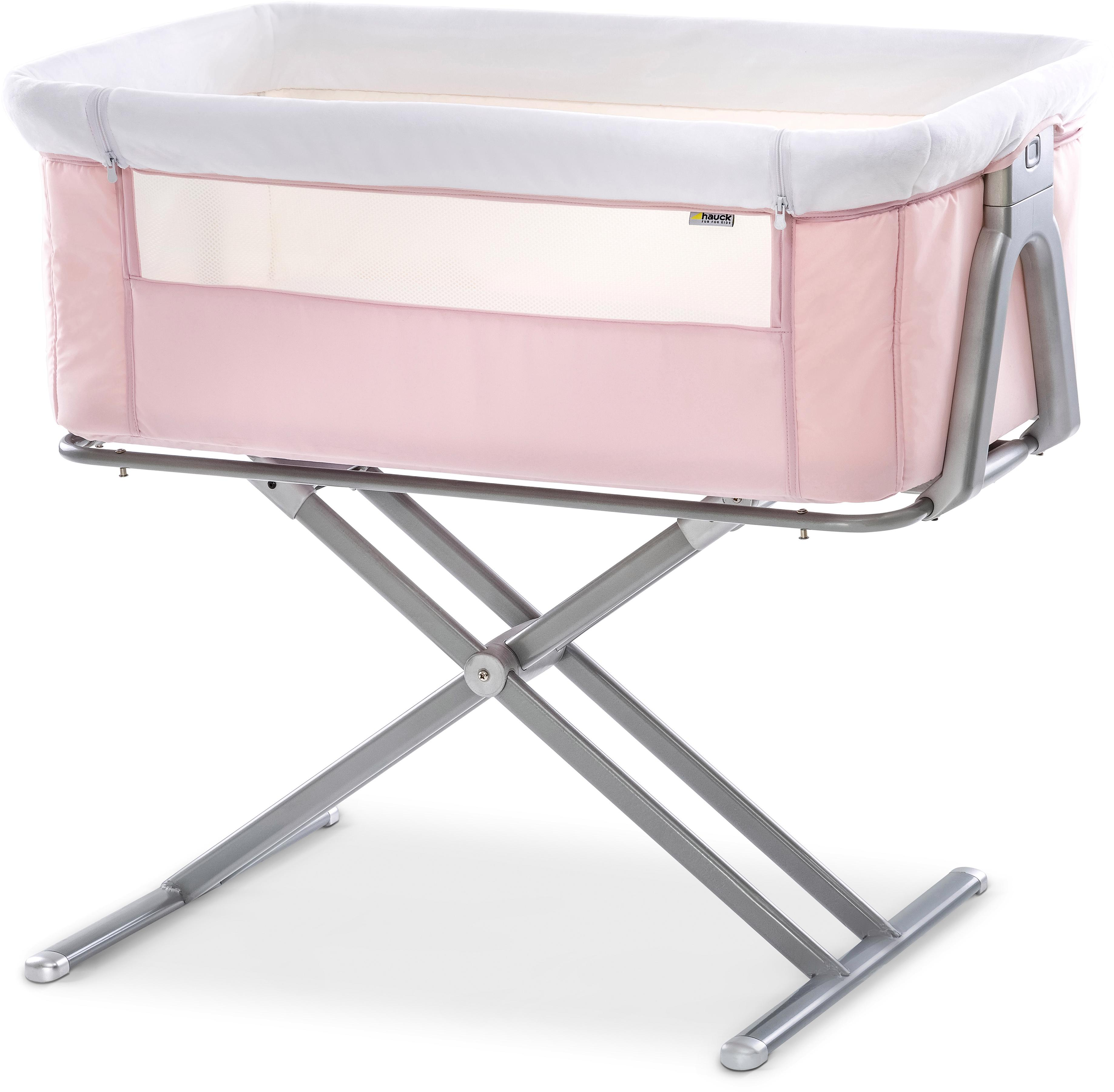 Hauck Beistellbett Face to me, pink rosa Baby Beistellbetten Babybetten Babymöbel