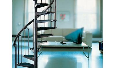 STARWOOD Spindeltreppe »AF26«, B: 110 cm, 12 Stufen, schwarz kaufen