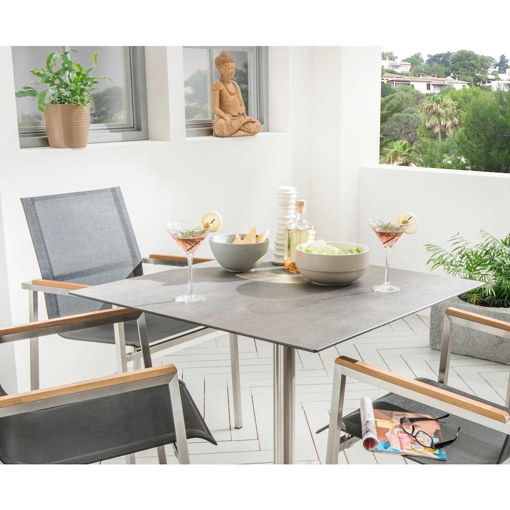 Destiny Essgruppe »Altos II«, (Set), Sessel taupe mit Loft Tisch 80 x 80 cm, Tischplatte besonders hohe Kratz-, Abrieb- und Stoßfestigkeit