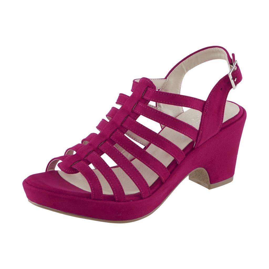 Sandalette mit schmalen Riemchen