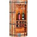 Ploß Barschrank, aus recyceltem Altholz mit Farbresten, Shabby Chic, Vintage