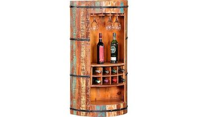 Ploß Barschrank, aus recyceltem Altholz mit Farbresten, Shabby Chic, Vintage kaufen