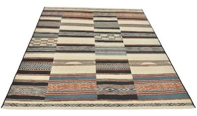 Gino Falcone Teppich »Outdoor-Africa 41«, rechteckig, 5 mm Höhe, Flachgewebe, In- und Outdoor geeignet, Wohnzimmer kaufen