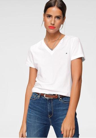 TOMMY HILFIGER T - Shirt »HERITAGE V - NK TEE« kaufen