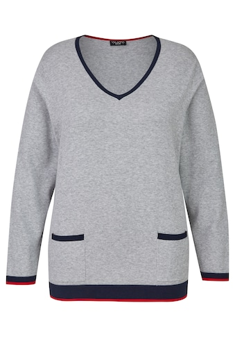 VIA APPIA DUE Femininer Pullover mit Kontrastdetails Plus Size kaufen