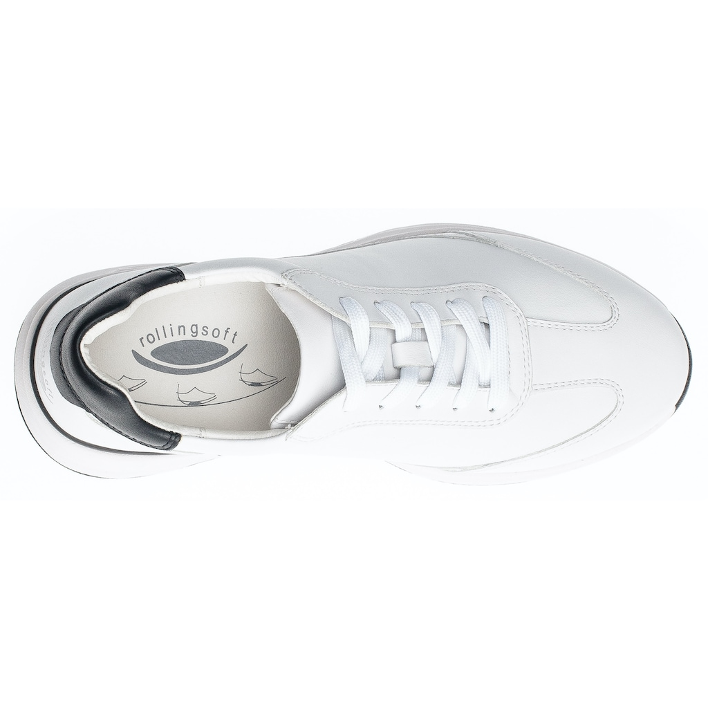 Gabor Rollingsoft Sneaker, mit Kontrastbesatz