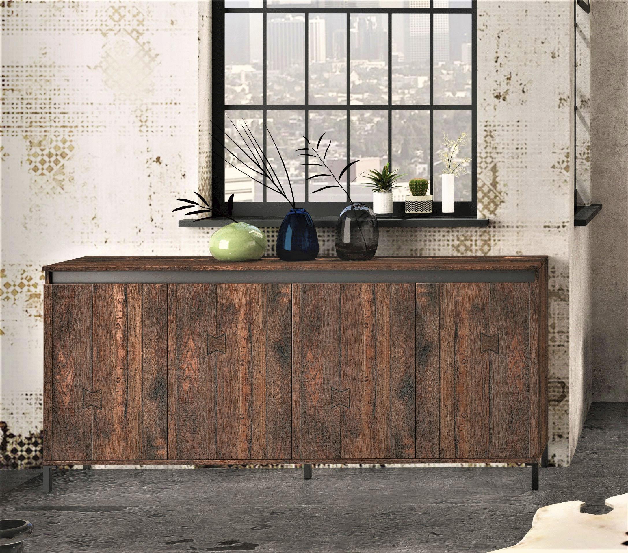 KITALY Sideboard Genio Industrial | Wohnzimmer > Schränke > Sideboards | Kitaly