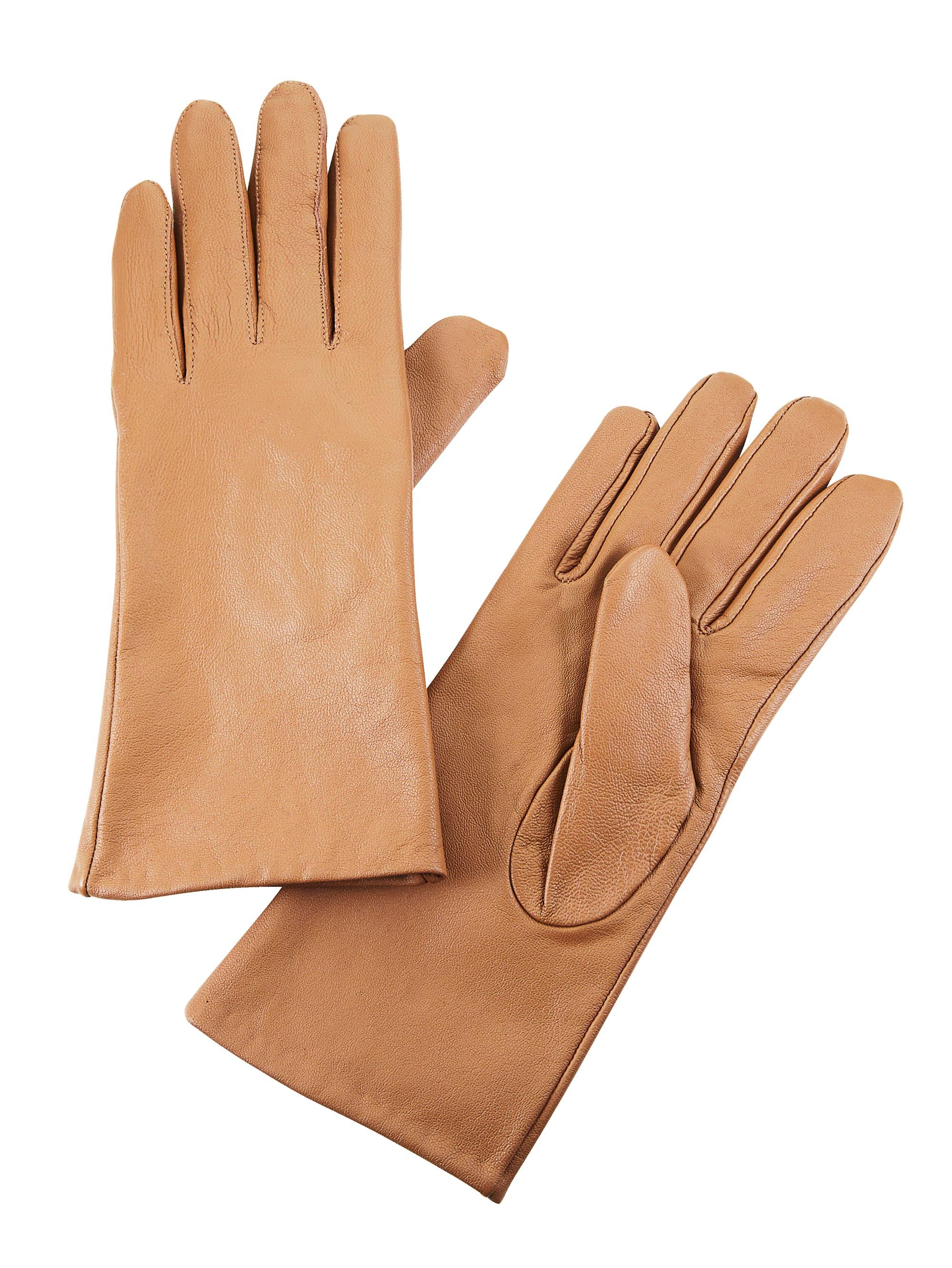 Mona Lederhandschuhe braun Damen Fingerhandschuhe Handschuhe Accessoires
