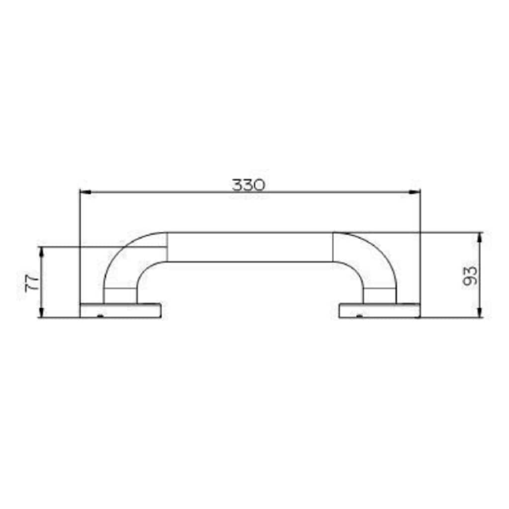 Provex Wandgriff »Serie 300 Steel«, belastbar bis 130 kg, Edelstahl