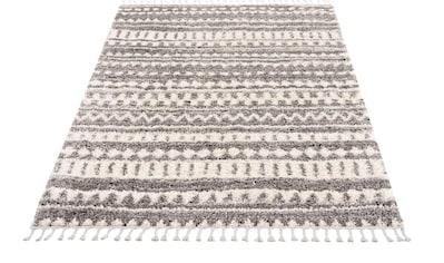 Carpet City Hochflor-Teppich »Pulpy 542«, rechteckig, 30 mm Höhe, mit Fransen, Wohnzimmer kaufen