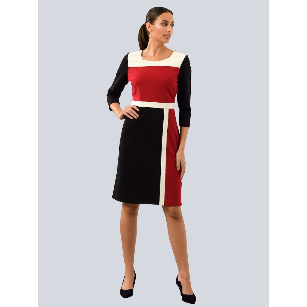 Alba Moda Jerseykleid, im Colour-Blocking