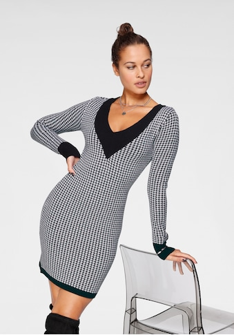 Melrose Strickkleid, mit angesagtem Hahnentritt-Design kaufen