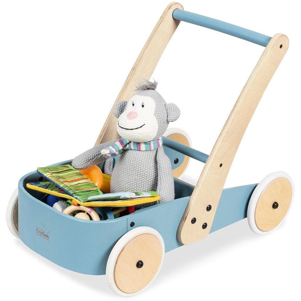 Pinolino® Lauflernwagen »Fiete, blau«, aus Holz