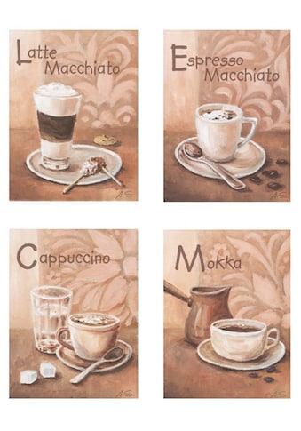 Home affaire Wandbild »Kaffeevariationen I«, (Set), 4x 17/23 cm kaufen