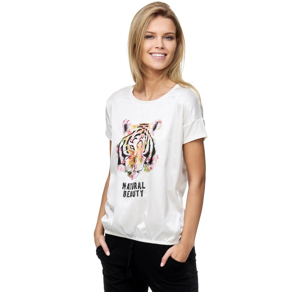 Decay T-Shirt, mit Aufdruck und Pailletten