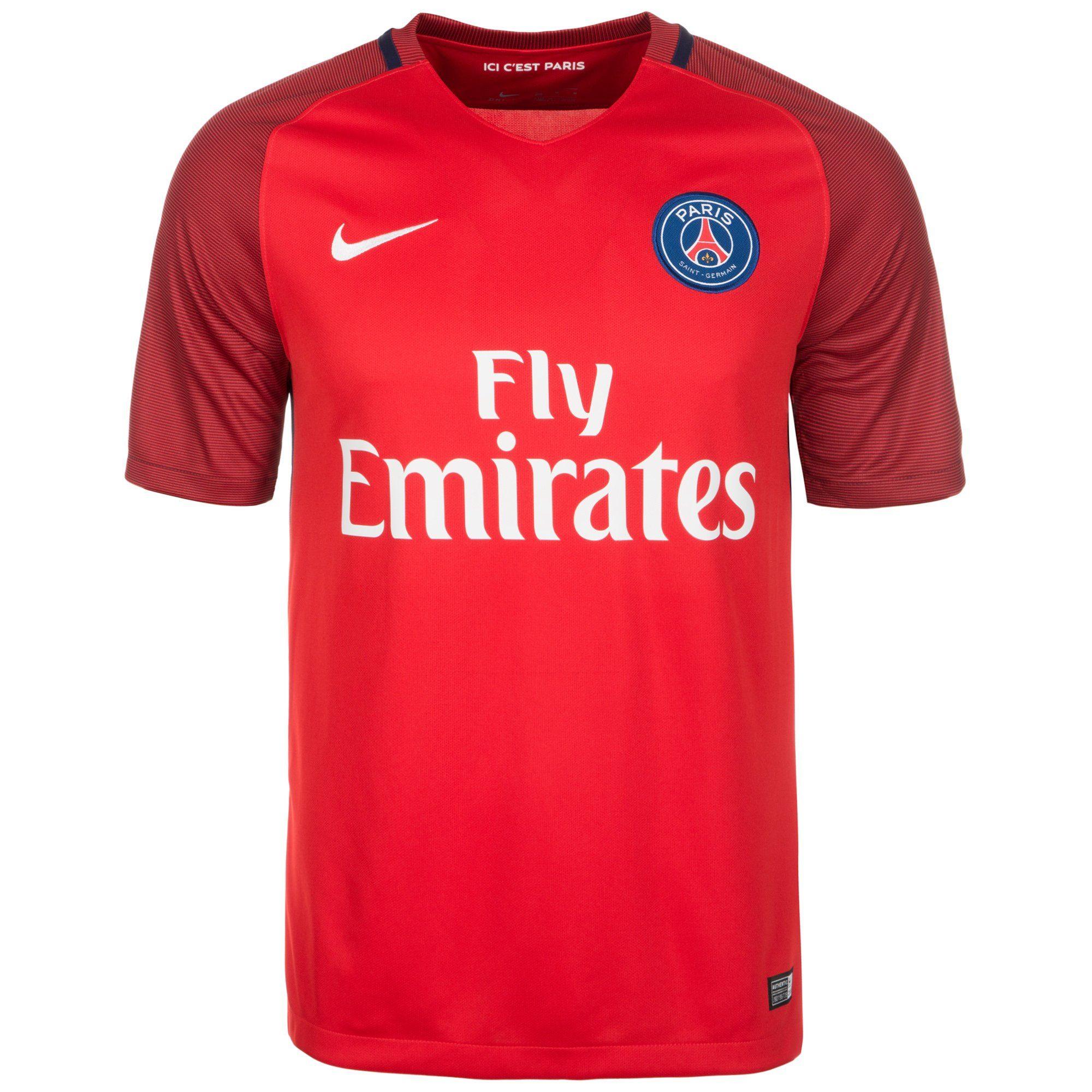 Nike Fußballtrikot Paris Saint-germain 16/17 Auswärts | Sportbekleidung > Trikots | Rot | Ab | Nike