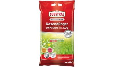 SUBSTRAL Rasendünger »2 in 1 UNKRAUT bleibt chancenLOS«, 9,1 kg kaufen