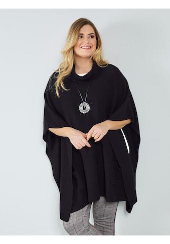 Sara Lindholm by Happy Size Poncho mit halsfernem Rollkragen kaufen