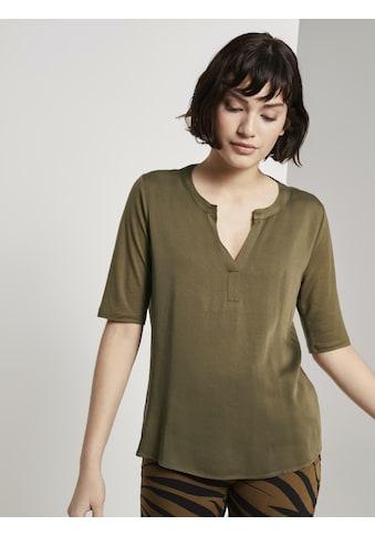 TOM TAILOR mine to five T-Shirt »T-Shirt aus Lyocell« kaufen