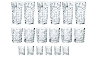 Nachtmann Gläser-Set »Bossa Nova«, (Set, 18 tlg., 6 Longdrink, 6 Tumbler, 6 Schnapsgläser), Kristallglas kaufen