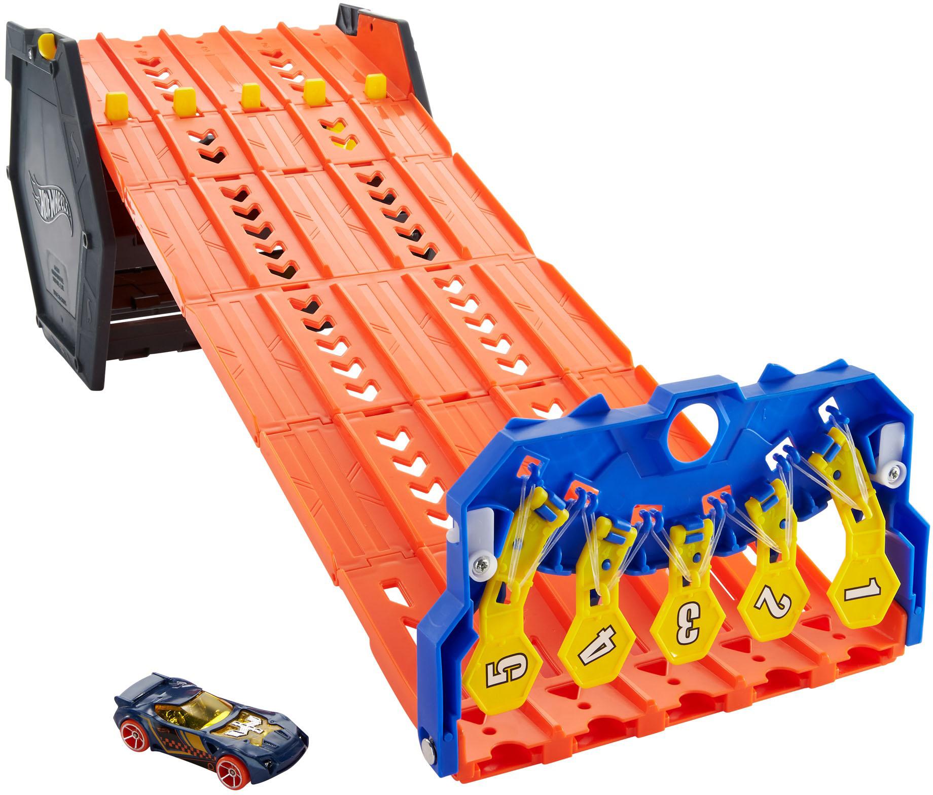 Hot Wheels Autorennbahn 2in1 Spielset & Box, inkl. 1 Spielzeugauto bunt Kinder Autorennbahnen Autos, Eisenbahn Modellbau