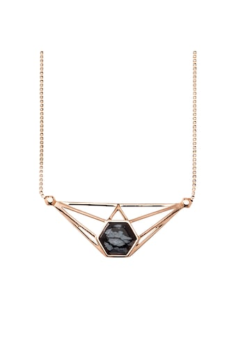 CAÏ Collier »925/ - Sterling Silber rotvergoldet Obsidian schwarz« kaufen