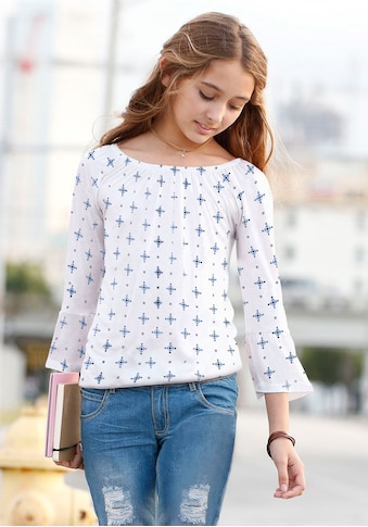 Arizona Carmenshirt, mit Gummizug im Saum kaufen