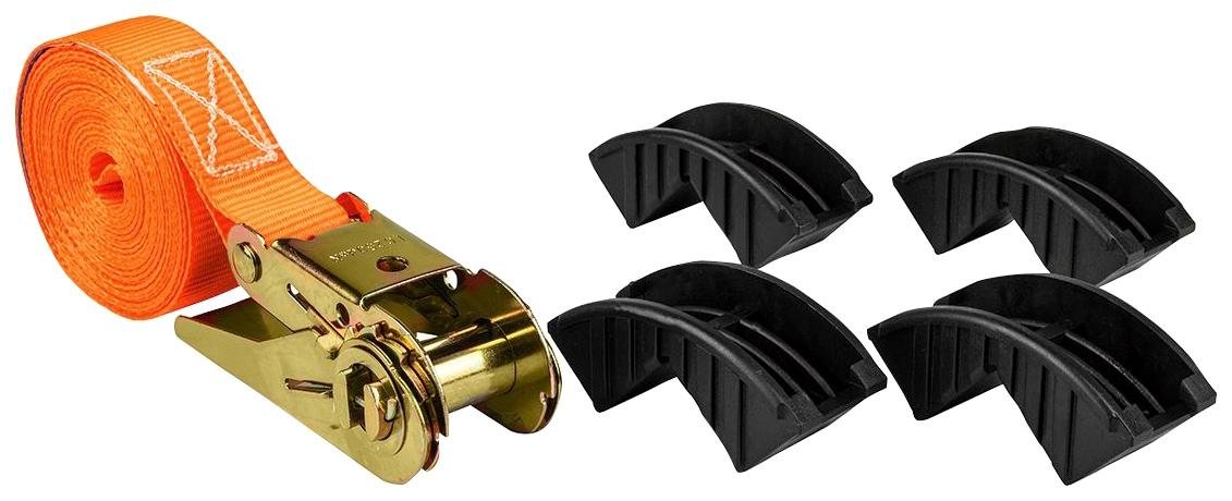 LAS Spanngurt, mit Ratsche und Kantenschutz orange Auto-Aufbewahrung Autozubehör Reifen Spanngurt