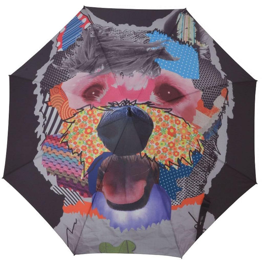 doppler® Stockregenschirm »Modern Art, Patchdog«
