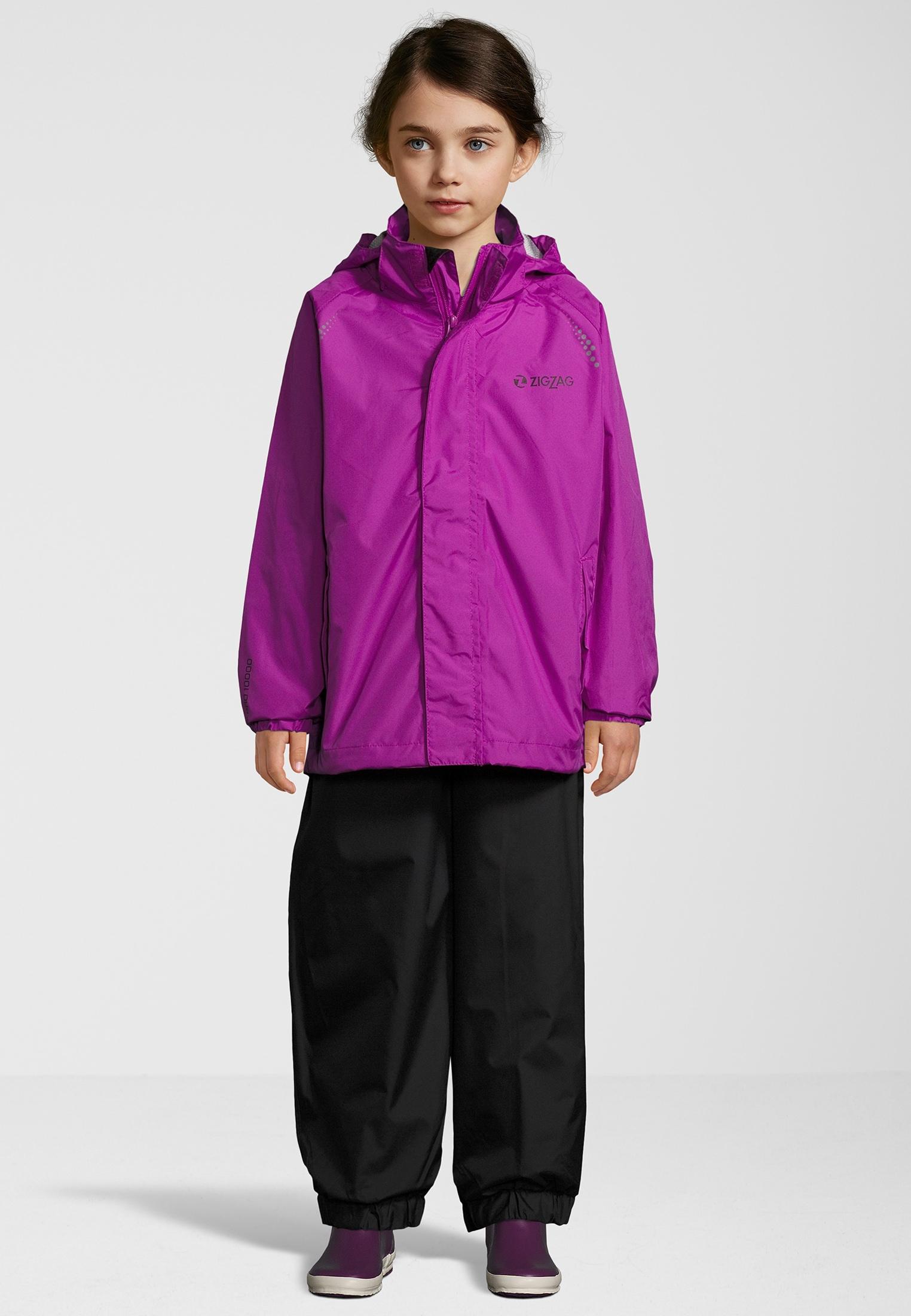 ZIGZAG Regenanzug Ophir W, W-PRO 10000 lila Kinder Regenanzüge Regenbekleidung Jungenkleidung 5713939207253