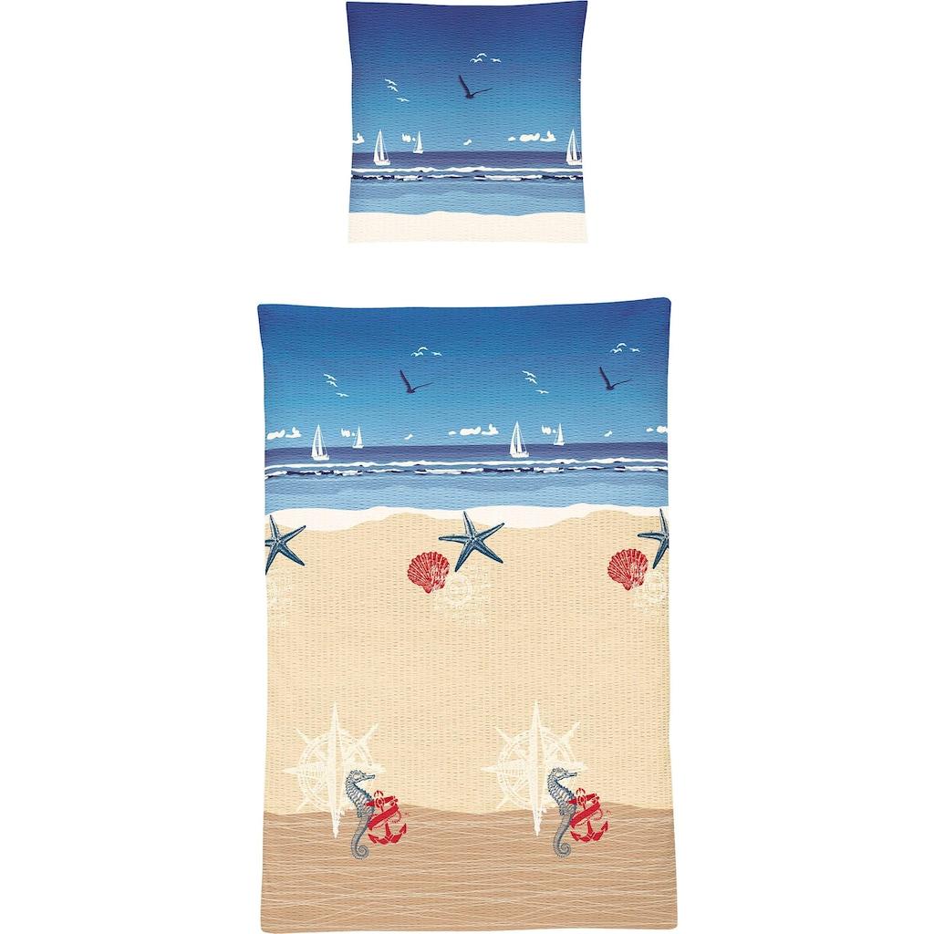 Irisette Bettwäsche »Calypso 8163«, mit schönem Strandmotiv