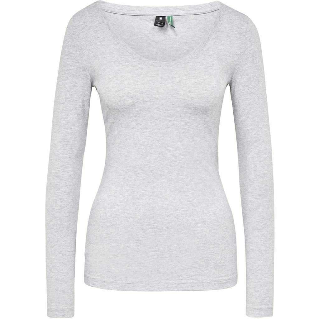 G-Star RAW Langarmshirt »Base Top r l/s«, aus weichen, atmungsaktiven Jersey im Bio-Baumwolle Mix