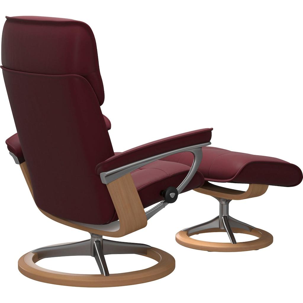 Stressless® Relaxsessel »Admiral«, mit Hocker, mit Signature Base, Größe M & L, Gestell Eiche